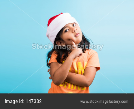 Indian small girl celebrating Christmas / X-mas