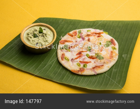Uttapam or ooththappam or Uthappa south Indian food