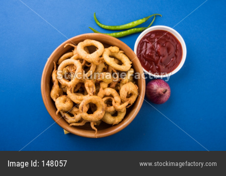 onion rings pakora