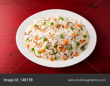 Vegetable Pulav or veg Biryani