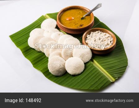 Idli Sambar chutney OR idly Sambhar