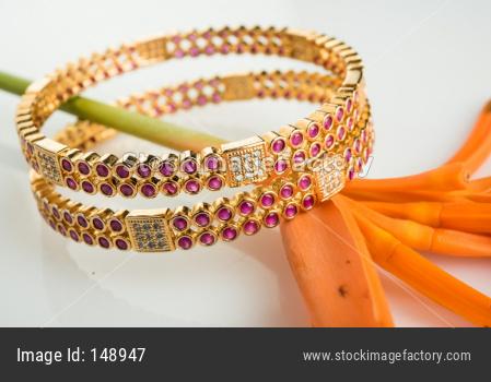 Gold bangles / wrist band