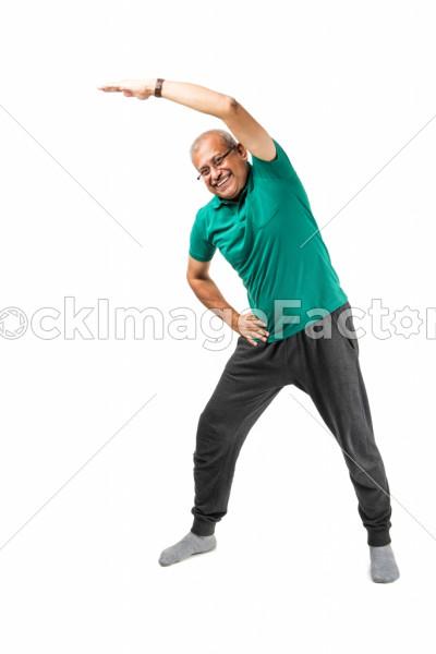 Senior Indian Man Doing Yoga Or Meditation Photo 0000149300 Stockimagefactory