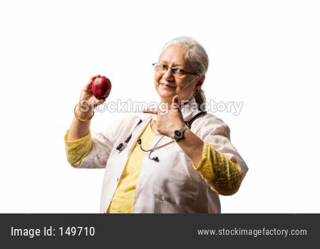 Senior Female Doctor with stethoscope