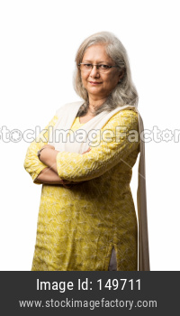 portrait of Senior/retired indian woman