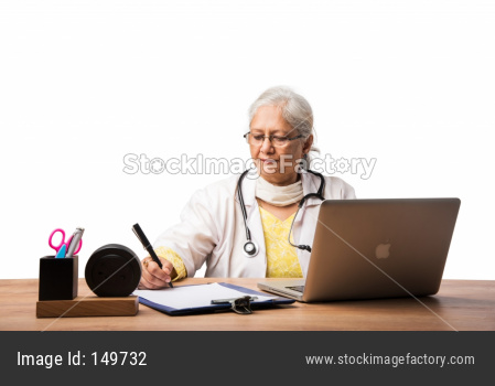 Senior Female Doctor with stethoscope