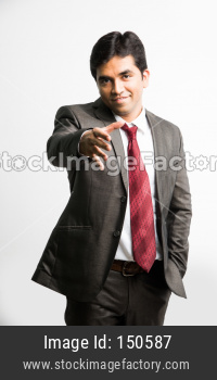 Indian young businessman reaching for Hand Shake or shakehand