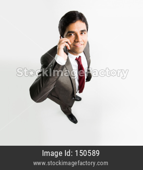 Indian young businessman with smartphone
