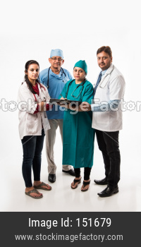 doctors discussing on medical report
