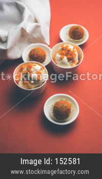 Motichoor Ice cream made using motichur/bundi laddu mixed with ice-cream