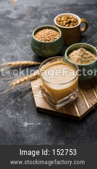 Sattu sharbat is a cooling sweet drink