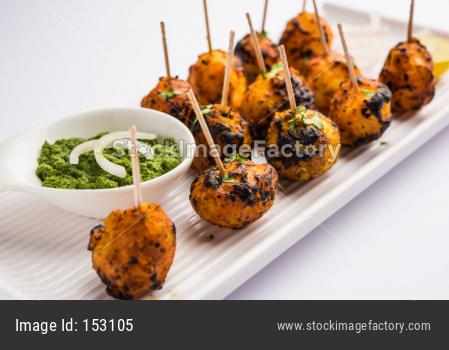 Tandoori Aloo or roasted potato is a popular starter