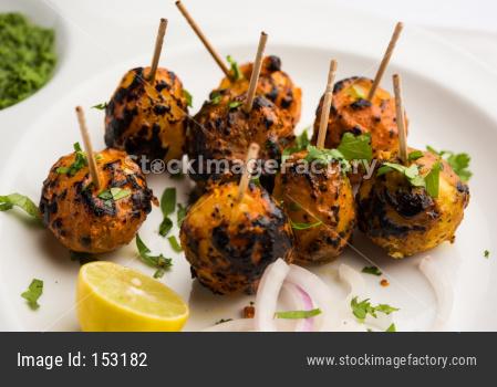 Tandoori Aloo or roasted potato is a popular starter