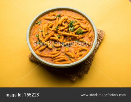 Dhaba style Sev bhaji / sev sabji / sev spicy curry