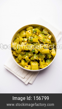 Lauki/doodhi ki sookhi Sabji also known as bottle gourd dry vegetable recipe