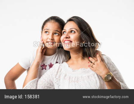 Indian mother and small daughter