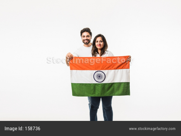 Couple With Indian Flag