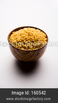 Salty and Fried Moong Dal Namkeen served in a bowl, selective focus