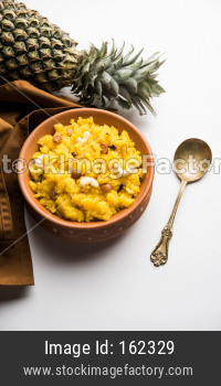 Pineapple sheera / Halwa / Ananas keshri shira