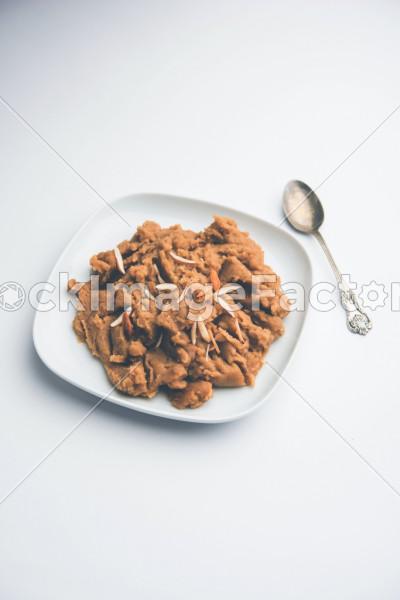 Wheat Flour Halwa Or Shira Or Porridge Atte Ka Halva Popular