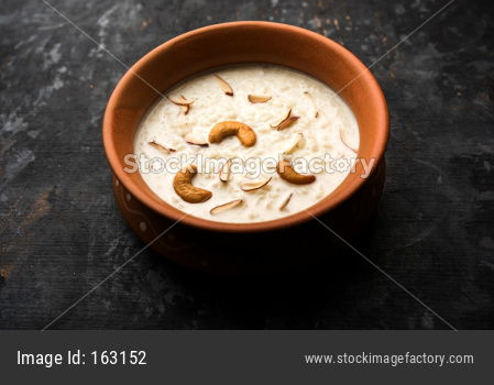Rice Kheer or Firni or Chawal ki Khir is a pudding from Indian subcontinent