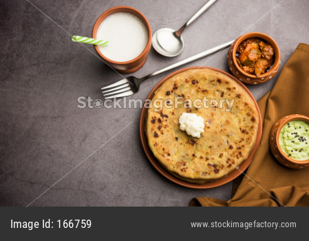Aloo Paratha with Lassi