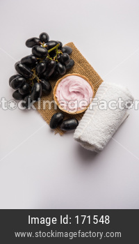 Black Grapes face mask or Cream