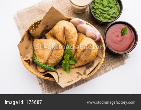 Samosa Snack with Hot Tea