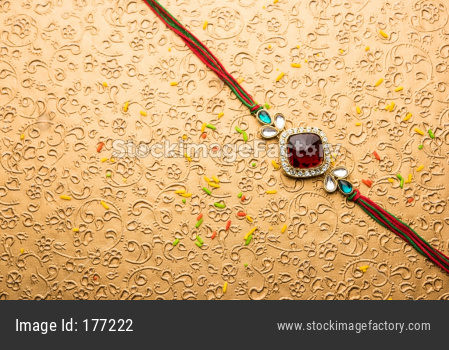 Designer Rakhi or Raakhi for Raksha Bandhan, Isolated