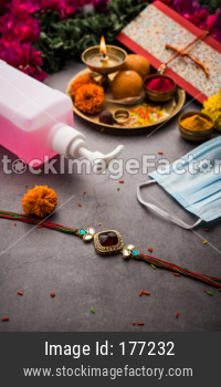 India celebrates Raksha Bandhan Festival in Corona / Covid-19 Pandemic