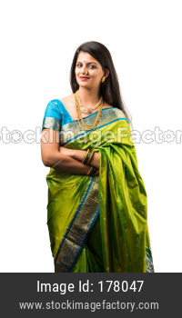 portrait of indian woman in saree