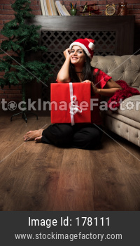 Indian girl celebrating Christmas