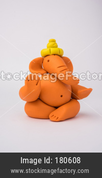 clay dough ganesha