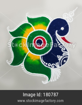 beautiful Rangoli Design for Diwali, onam or pongal