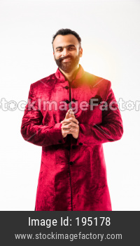 Indian bearded man in traditional wear