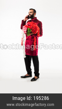 Indian man with garland